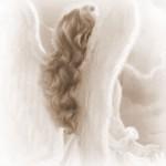 Um anjo de olhos brilhantes