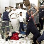 Pet Obama derruba criança de 2 anos