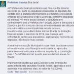 Nota da prefeitura de Guarujá
