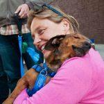 """Cão reencontra voluntária que o resgatou das ruas e a surpreende com """"abraço de gratidão"""""""