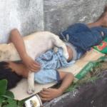 Criança adota um cão de rua para evitar estar sozinho e sua amizade comove milhares de pessoas
