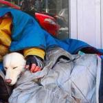 Morador de rua e seu cachorro morrem de frio e são encontrados abraçados